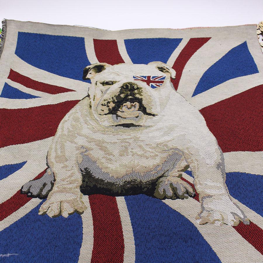 """Rempli british bulldog tapisserie Union Jack Nœud Papillon Rouge Blanc Bleu Coussin 18 /"""""""