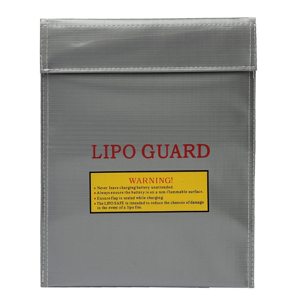 RC LiPo Li-Po Bater/ía Protector de Seguridad a Prueba de Fuego Bolsa Segura Bolsa de Carga Bater/ía Bater/ía Bolsa Protectora de Seguridad Guardia Segura Plata Color: Gris