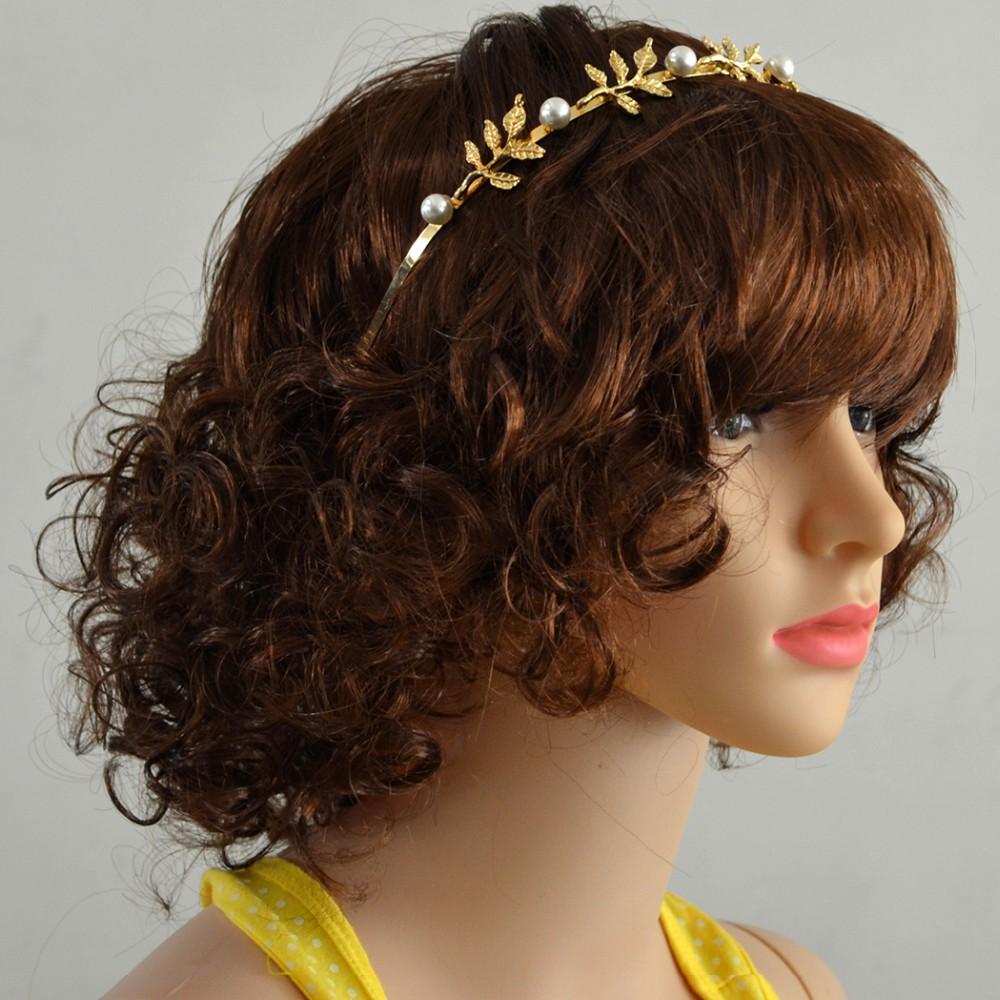 fb336ade4be8c5 ▽Moda Złoto Srebro Hairbands Urok Kryształ Rhinestone Symulowane ...