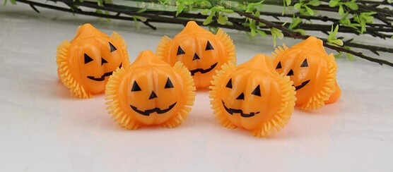 1X Calabaza Caramelo titular 12 Mini Trick-or-Treat Halloween Candy Cubo: Naranja Sm