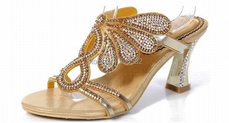 da30ebe6c8 っHot nowy 2018 kobiety moda gruby wysokie obcasy sandały złota ...