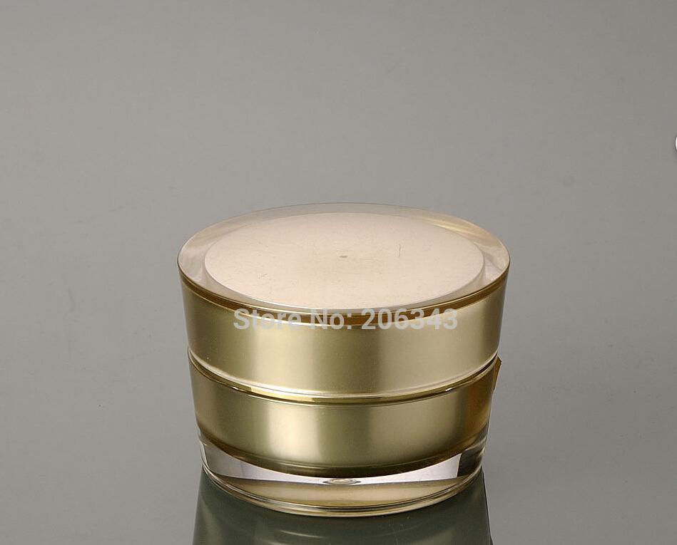 Apothicaire Bocal Acrylique Clair Bocal pour boule de coton maquillage cosmétique Pad de conservation