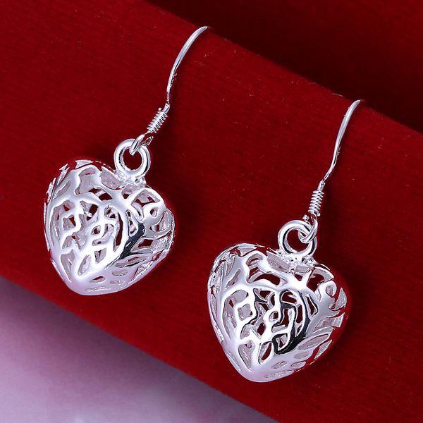 Love Charm Bead Craft Joyería haciendo Tono Plata Cierre De Doble Lazo Corazón