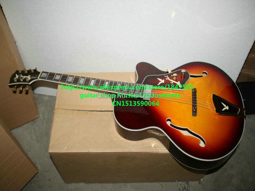 bb7c4d9aaca6b Click here to Buy Now!! Custom shop sunburst vintage hollow jazz guitar  jeden pickup high quality hurtownie guitars hot