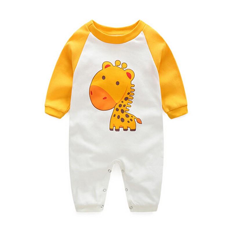 b135566d98b22 2016 الخريف الملابس الوليد الطفل ملابس الطفل يعمل قطعة واحدة الطفل السروال  القصير الرضع الفتيان الفتيات طويلة الأكمام حللا الملابس