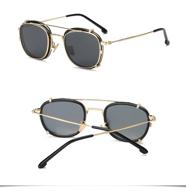 2ba27739f2 Width-138 Nouveau TR cinq lentilles Polarisées lunettes de soleil hommes  magnétique manches miroir myopie rétro hommes femmes lunettes cadre lentes  ...