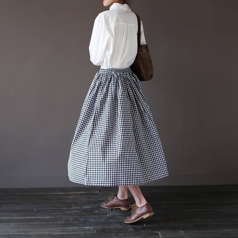 90ddc7b6 ჱDziewczyny moda damska vintage dorywczo chusta długie spódnice ...