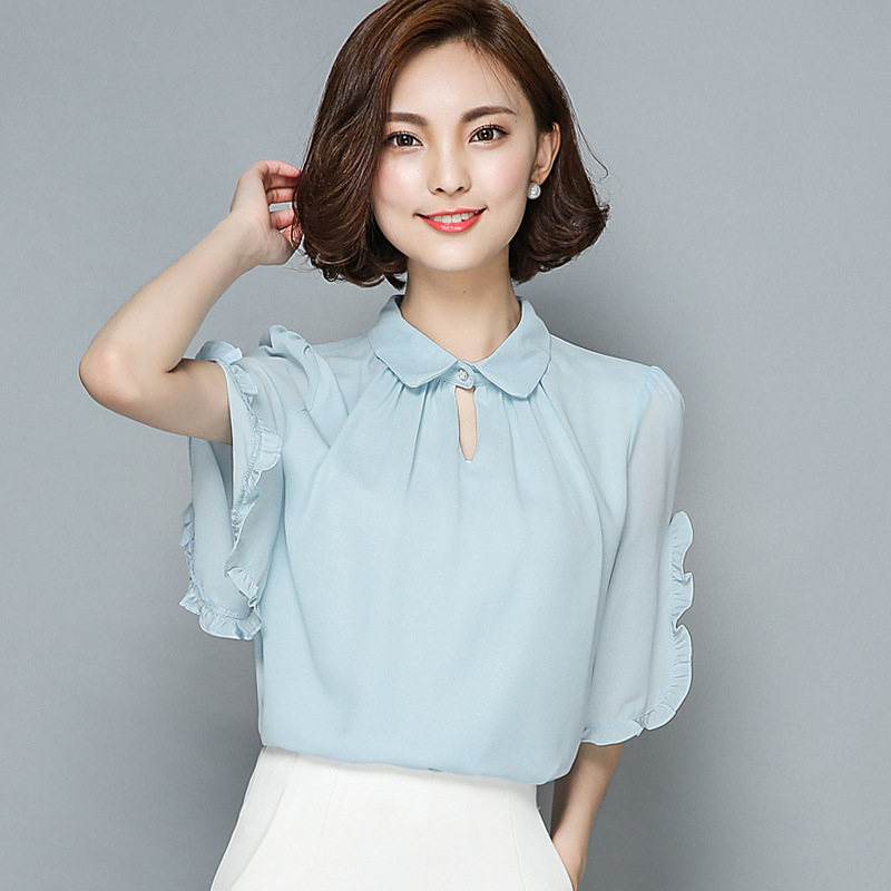 Buy 2016 Summer short sleeve embroidery striped blouses ...