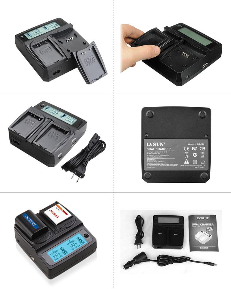 a61fd02889555 ᑐUdoli EN EL11 EN-EL11 Bateria Carregador Duplo Para Pentax OPTIO ...