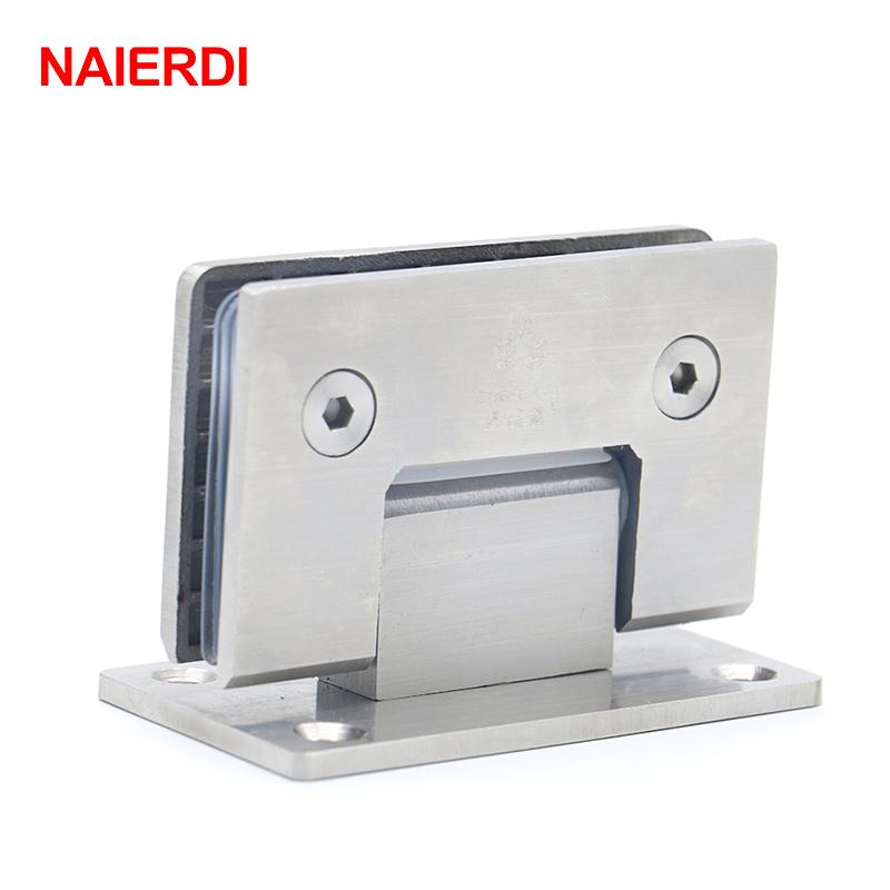 bisagra de abrazadera ajustable tono plateado Bisagra de abrazadera de doble acci/ón de 180 grados para puerta de cristal de ducha