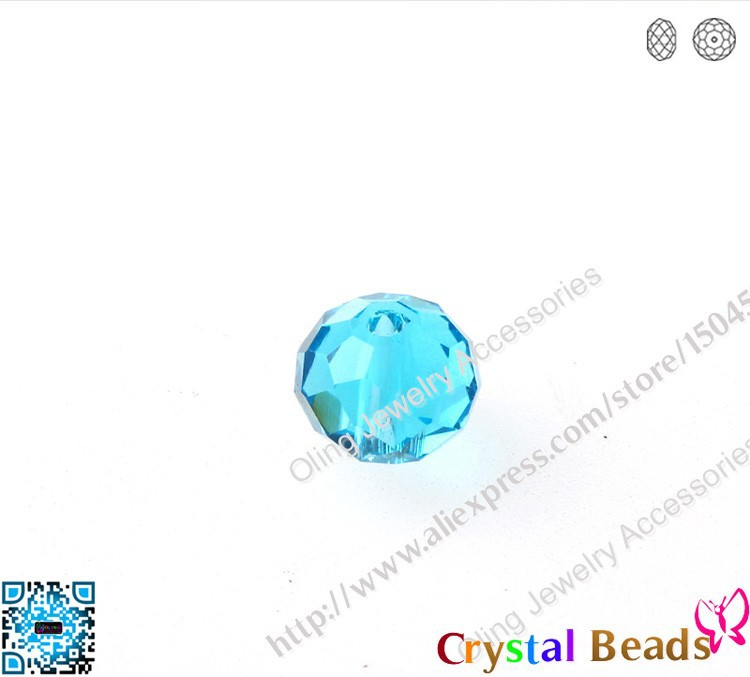 """6mm Cielo Azul Facetado Aguamarina Redondo Natural Gemstone suelta granos 15/"""""""