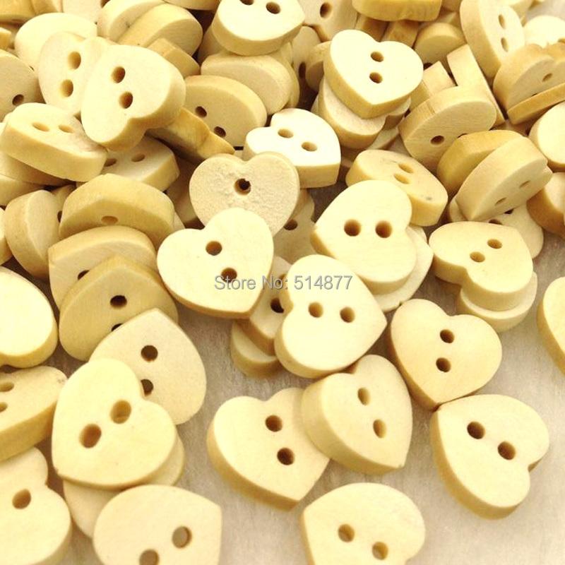 117beb83b78d2 ᐂ10 50 100 قطع 12 ملليمتر الحب القلب الخشب أزرار الخياطة يزين كيد ...