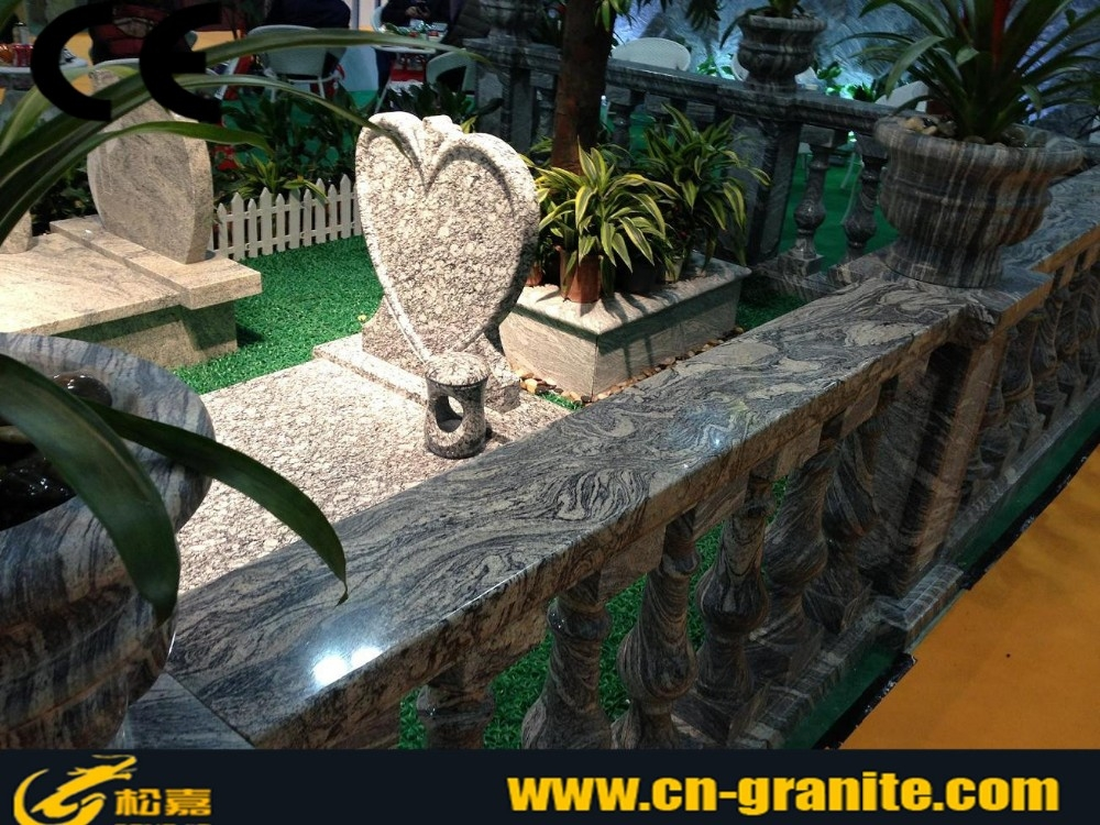 China Juparana Grey Granite Short Handrail Balustrades Prices   Stair Handrails For Sale   Iron Staircase   Cable Railing   Deck Railing   Handrail Bracket   Balusters