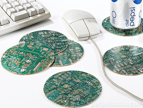 Recycled Motherboard Coasters Gadgetsin