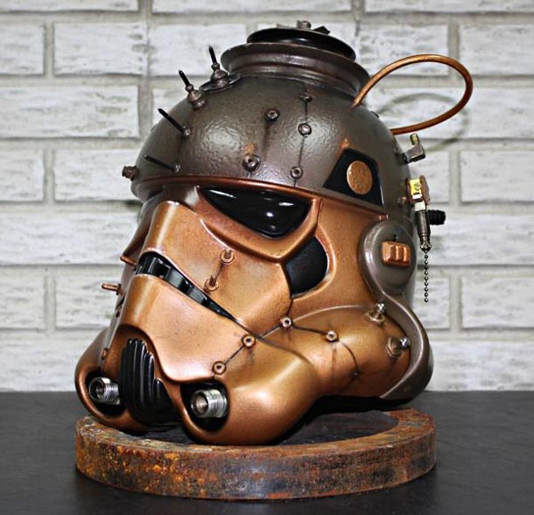 Steampunk Stormtrooper Helmet Gadgetsin