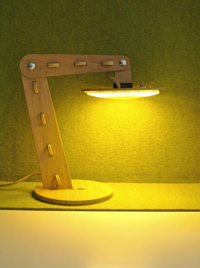 Elegant Bamboo Led Lamp Gadgetsin