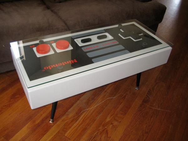 Handmade Nintendo Controller Coffee Table Gadgetsin