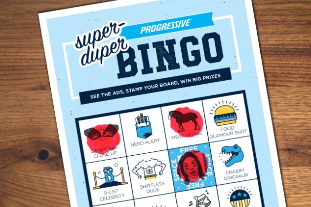 Bingo  Progressive Hosts Its Own Super Bowl Game   Special  Super     Progressive will host its own game of Bingo during the Super Bowl