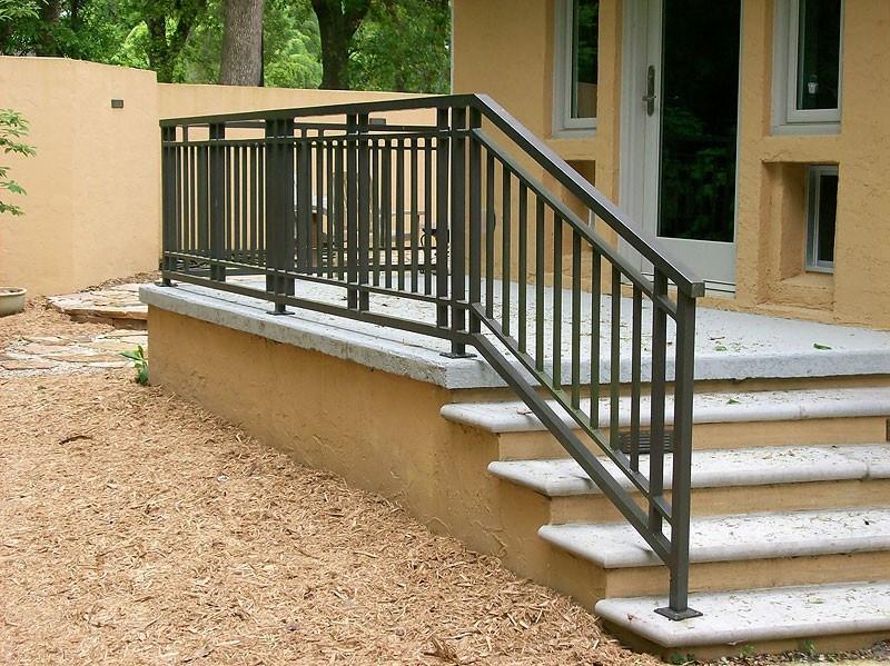 Exterior Railing Metal Fabrication Aluminum Fabrication   Aluminum Railing For Outside Steps