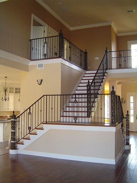Interior Railing Metal Fabrication Aluminum Fabrication   Metal Staircases And Balconies