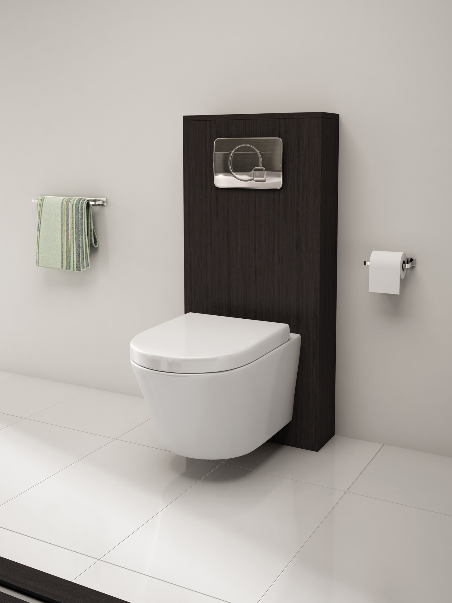 Imex Ceramics Arco Rimless Wall Hung Toilet Pan With Soft