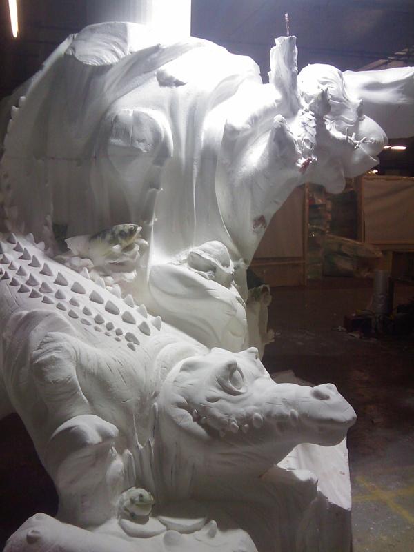 Animal Tree Sculpture Hot Wire Foam Factory