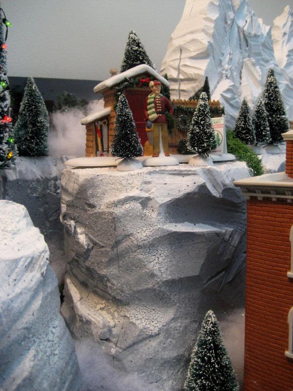 Building Styrofoam Village Displays Christmas