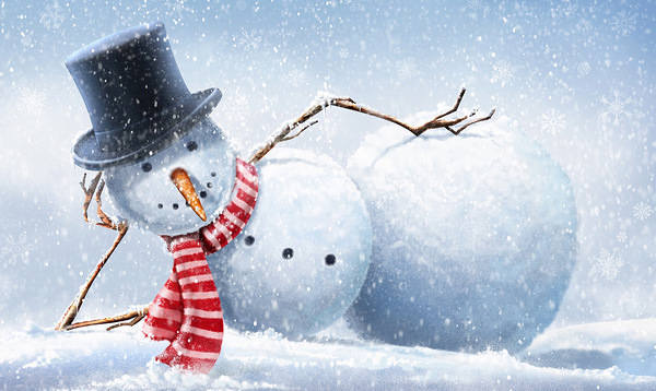 Winter Background With Snowman Gallery Yopriceville
