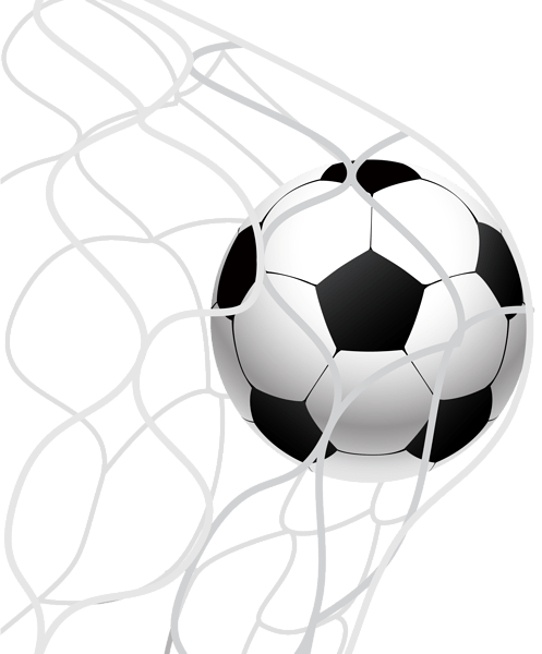 Soccer Ball Goal in a Net PNG Clip Art Image | Gallery ...