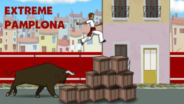 Extreme Pamplona   one of the best flash running games   Flash games     Extreme Pamplona flash game