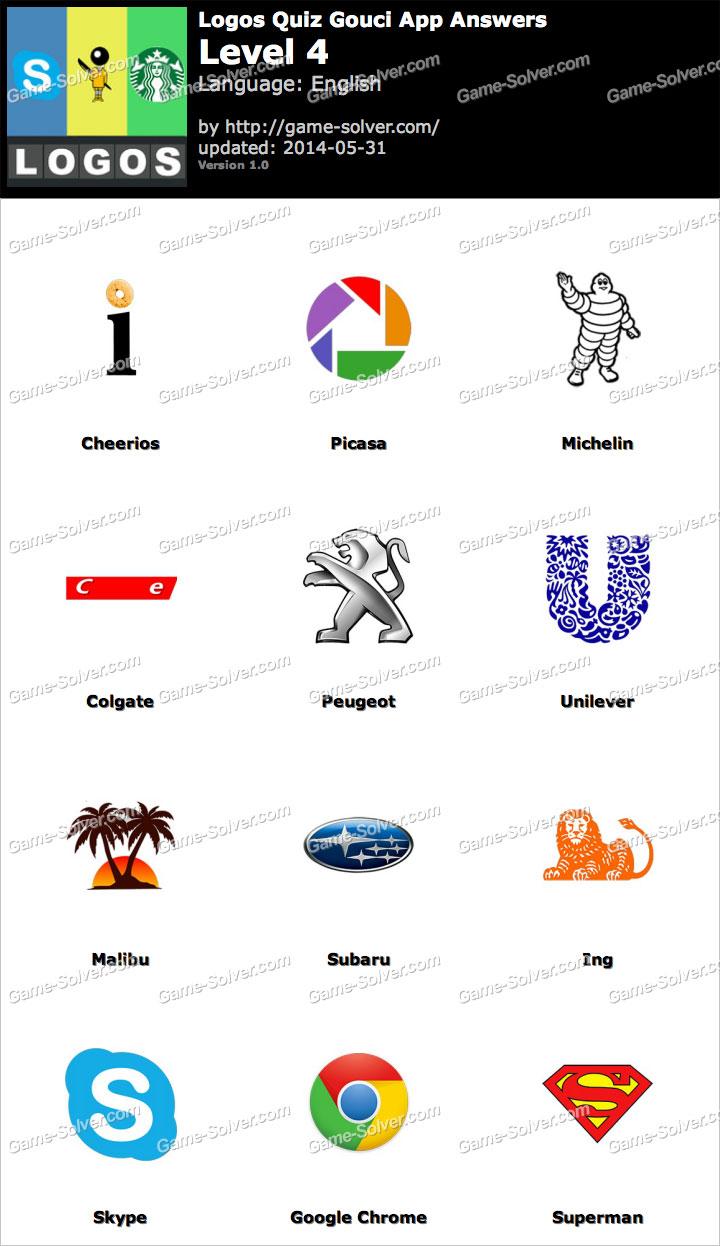 Logos Quiz Gouci App Level 4 - Game Solver