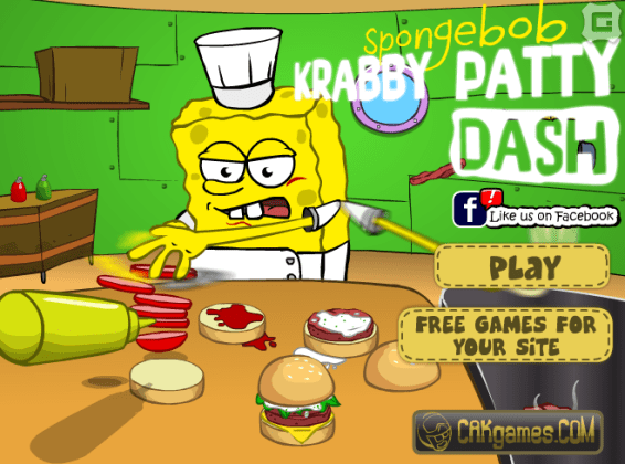 Kids games online spongebob krabby patty dash   Kids Games Online Description  You have to help Sponge Bob with his new fast food restaurant   help him earn lots of money  Kids Games Online Play Games Spongebob Krabby  Patty