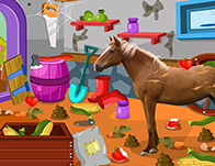 Animal Caring Games for Girls   Girl Games Clean up horse farm 2