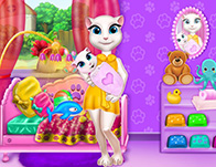 Room Decoration Games for Girls   Girl Games Talking Angela Baby Crib Deco