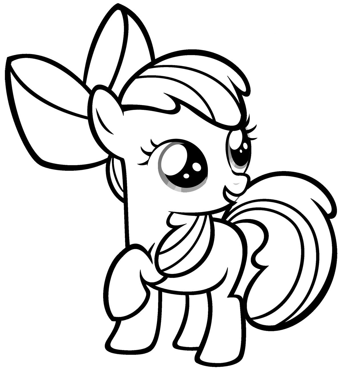 My Little Pony Baby Coloring Page My Little Pony Coloring Pages