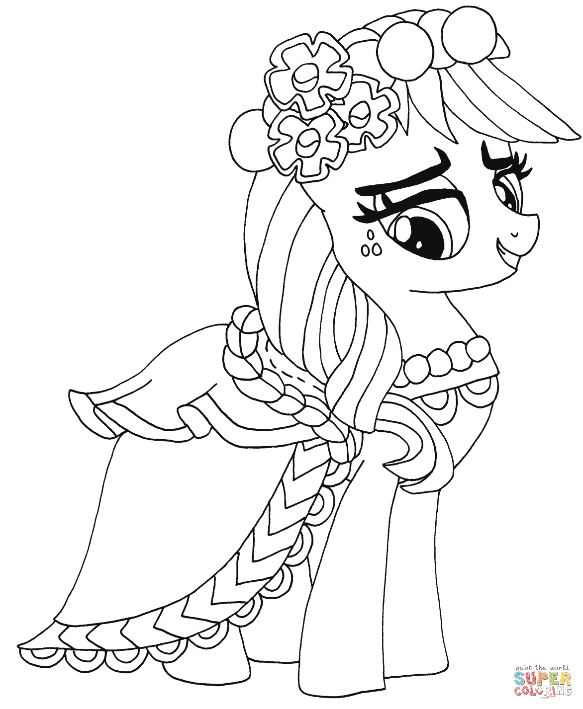 My Little Pony Applejack From My Little Pony Coloring Page My