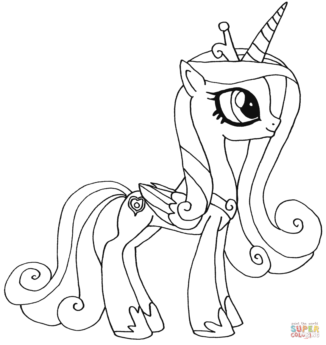 Princess Candance From My Little Pony Coloring Page My Little