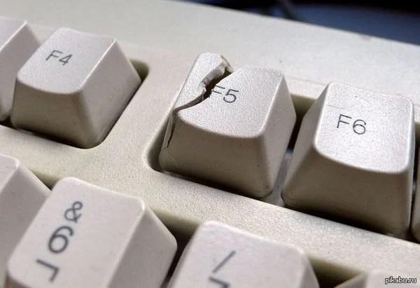 Сломанная клавиатура на ПК