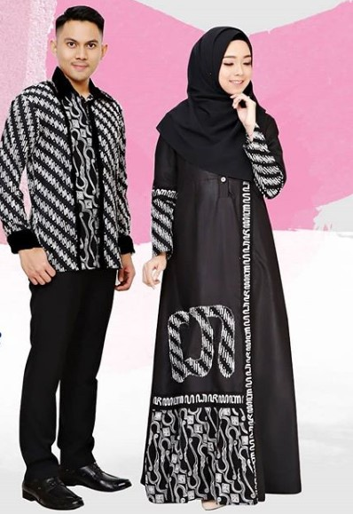 Model Gamis Batik Pesta Couple 14