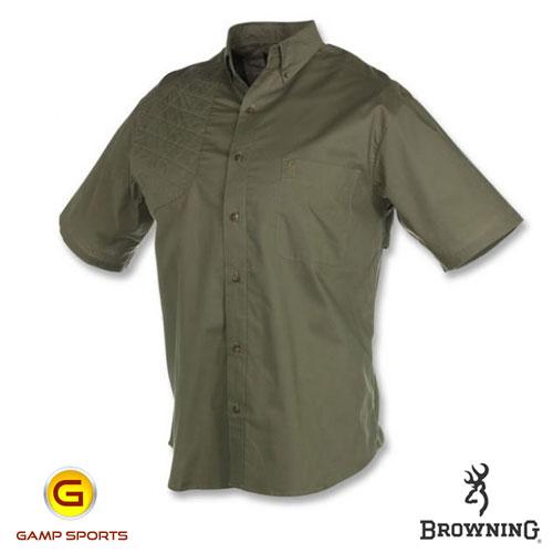 Browning Badger Creek Shooting Shirt Short Sleeve Pine