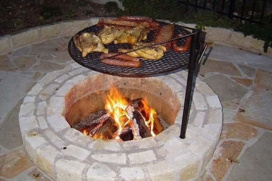 Adjustable Fire Pit Grate