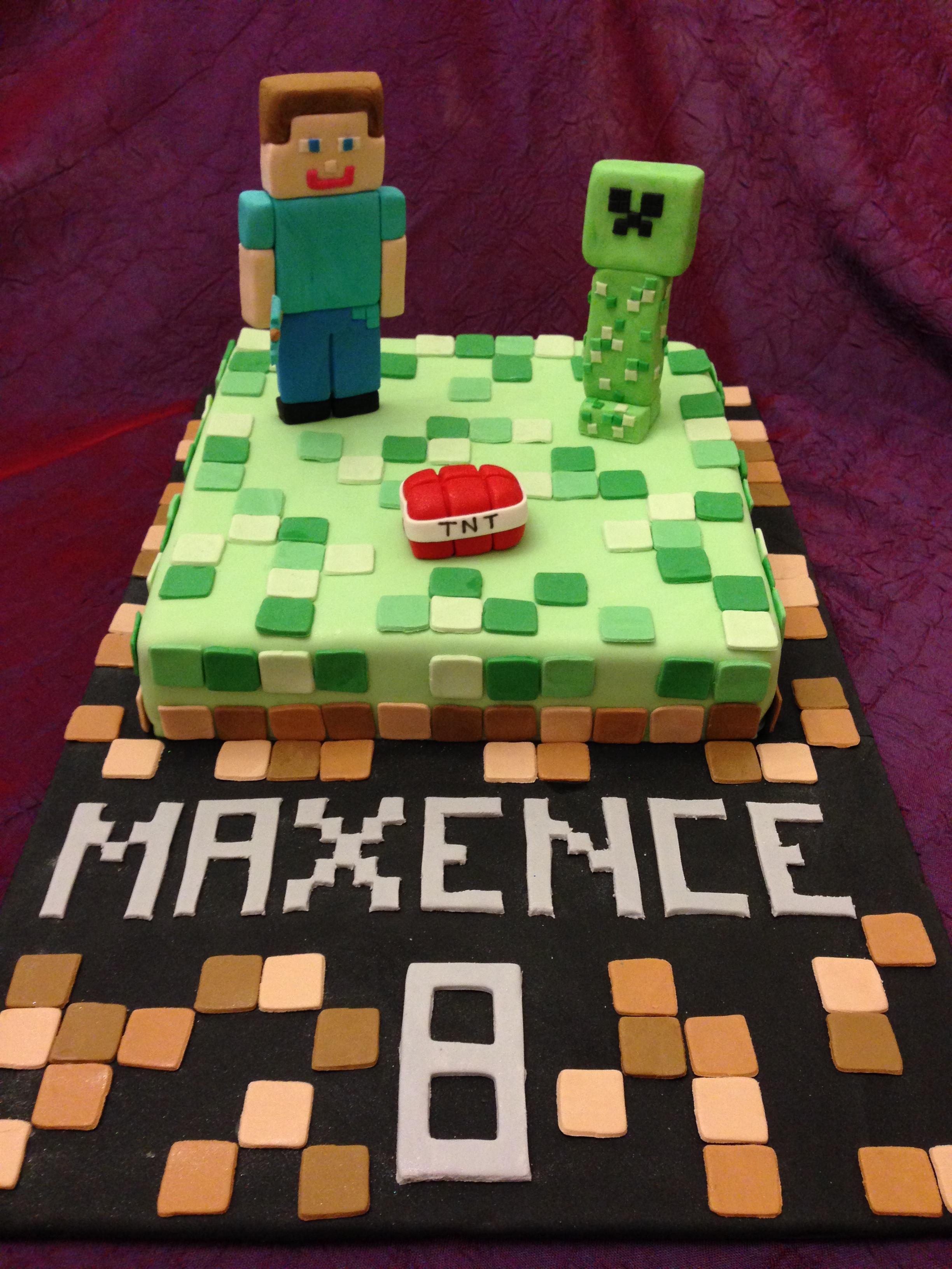 Gateau Minecraft Cake 1 G 226 Teaux 224 Gogo