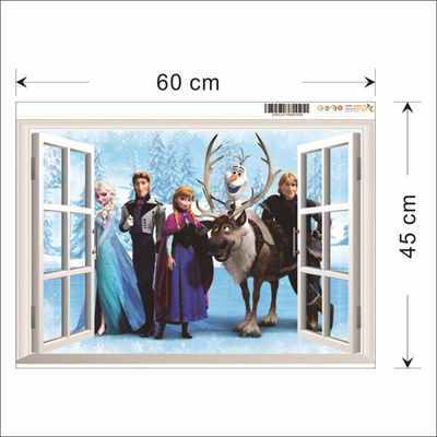 Qoo10   FROZEN WALLPAPER   Furniture   Deco FROZEN WALLPAPER  3D WINDOW