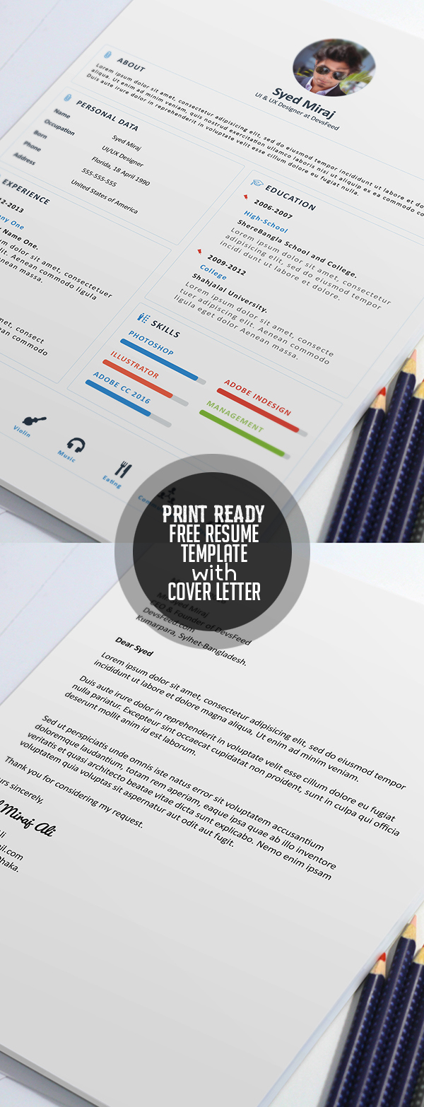 Free Resume Templates for 2017   Freebies   Graphic Design Junction Free Print Ready Resume Template and Cover letter