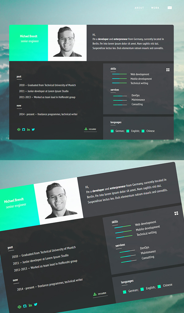 Free Resume Templates for 2017   Freebies   Graphic Design Junction Minimalistic HTML5 Resume Template