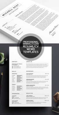 50 Best Minimal Resume Templates   Design   Graphic Design Junction 50 Best Minimal Resume Templates   1