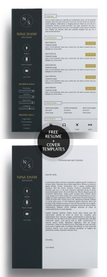 Resume Templats  Download Entry Level Resume Template     Free Creative Resume Templates With Cover Letter Freebies