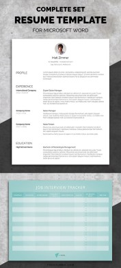 50 Best Resume Templates   Design   Graphic Design Junction Professional Resume Template Set   Spick And Span