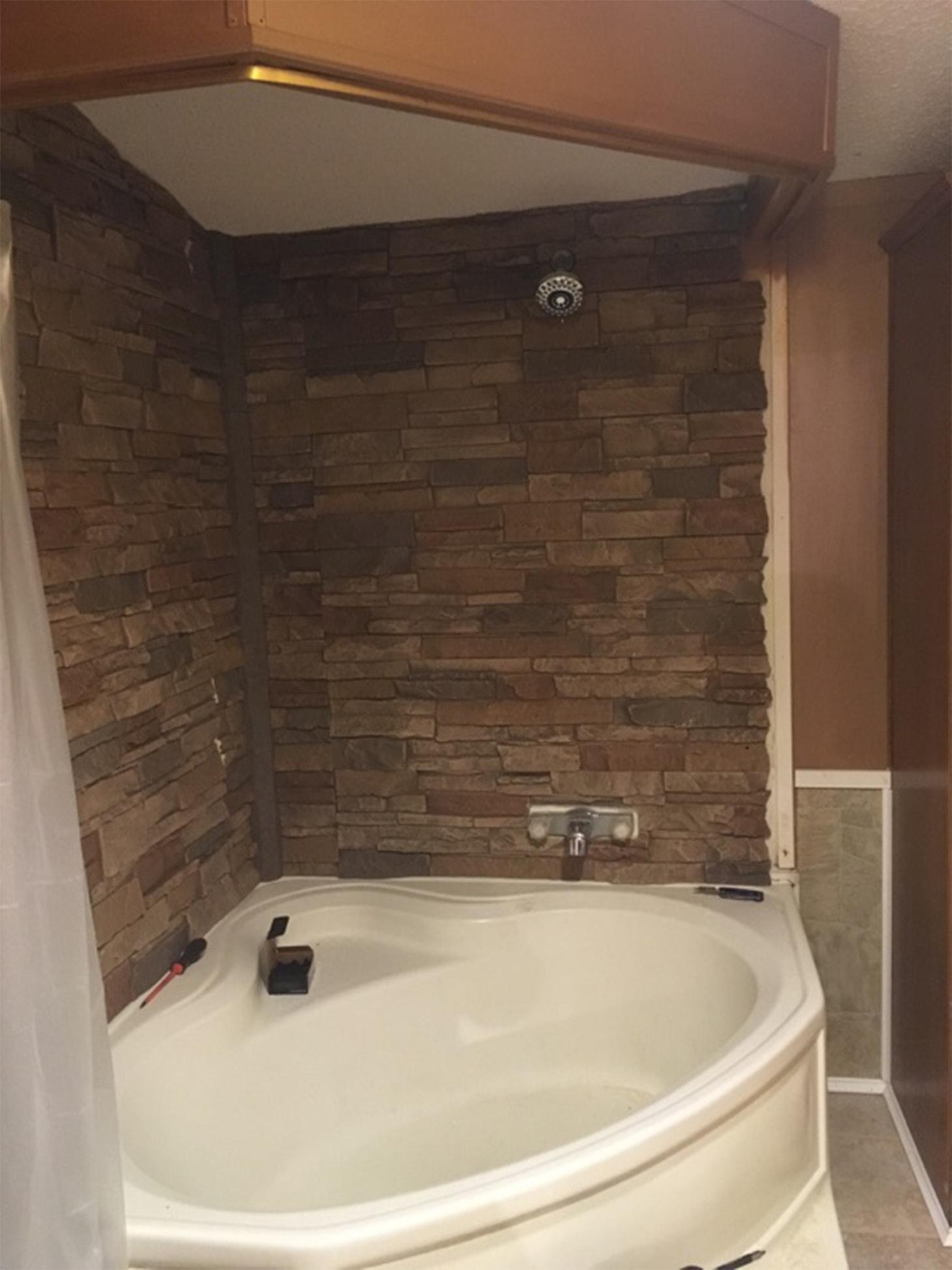 Stacked Stone Shower Walls Twana S Custom Shower Genstone