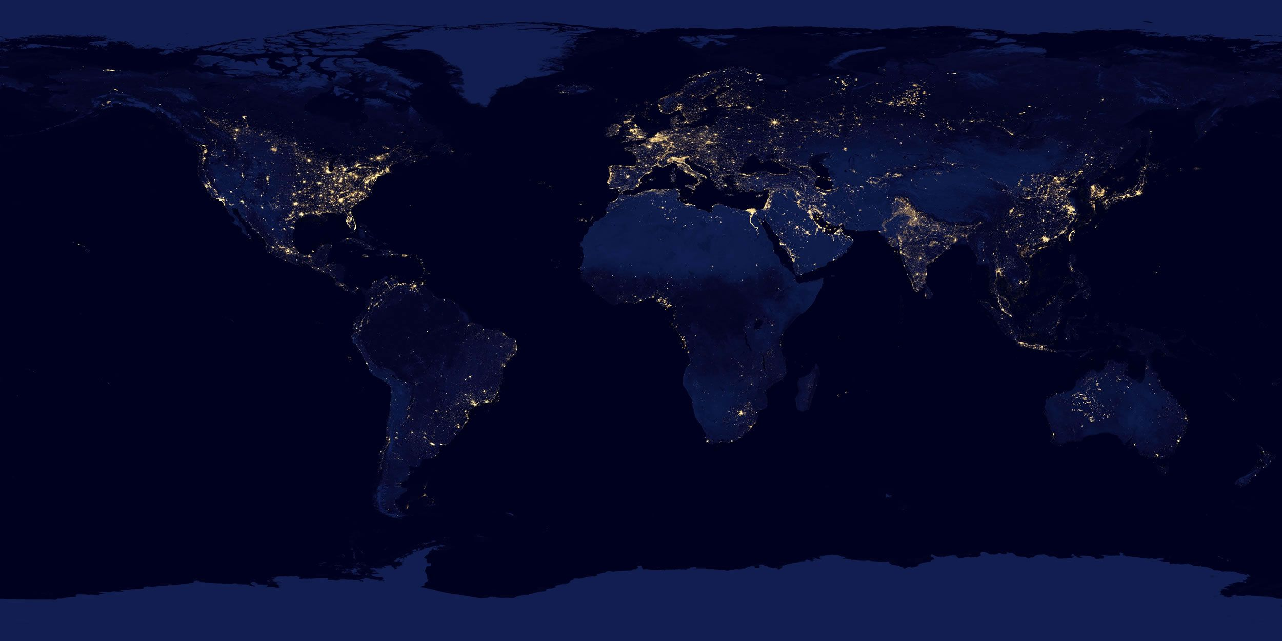 World Map  A clickable map of world countries     World Map of Cities at Night
